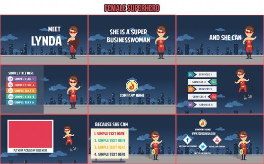 superhero powerpoint templates